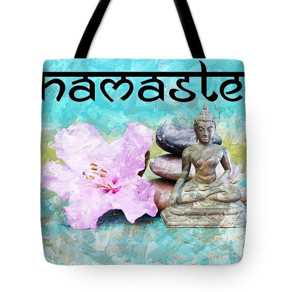 Namaste Buddha Tote Bag