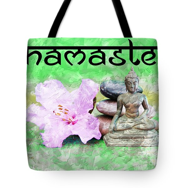 Namaste Buddha. V2 Tote Bag