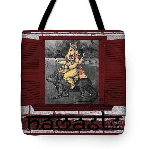 Namaste Ganapati Tote Bag