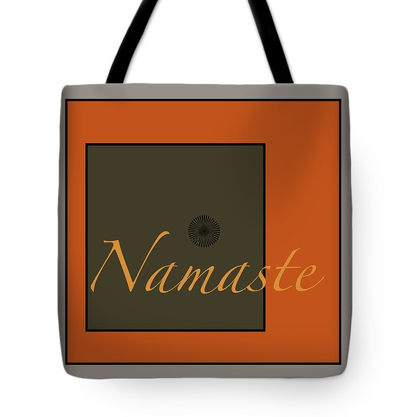 Namaste Tote Bag by Kandy Hurley