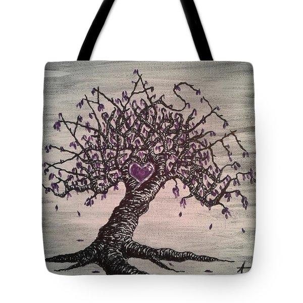 Namaste Love Tree Tote Bag