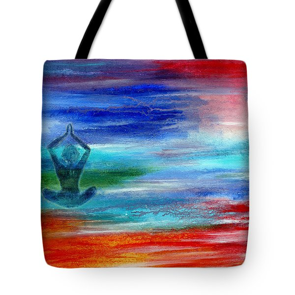 Namaste Tote Bag by The Art With A Heart By Charlotte Phillips