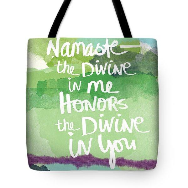 Namaste- Watercolor Card Tote Bag
