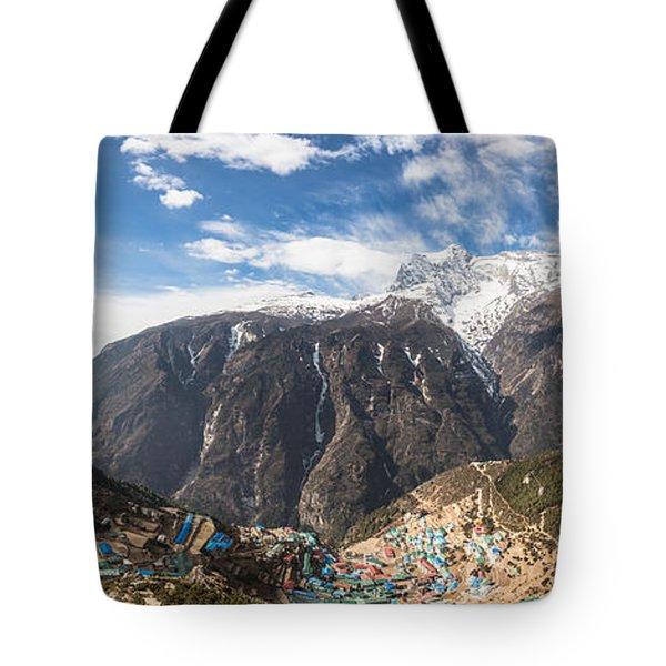 Namche Bazar Panorama Tote Bag