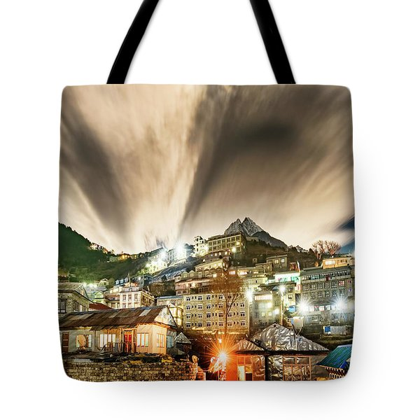 Tote Bag featuring the photograph Namche Night by Dan McGeorge