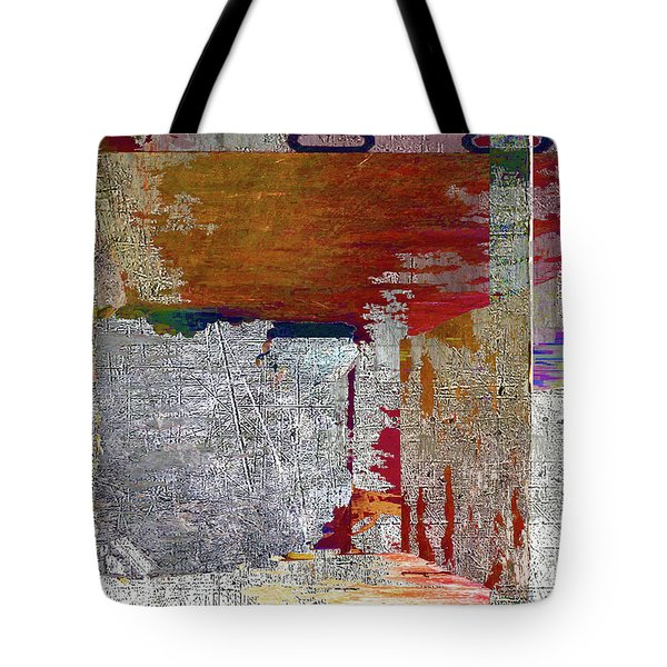 Tote Bag featuring the mixed media Name This Piece by Tony Rubino