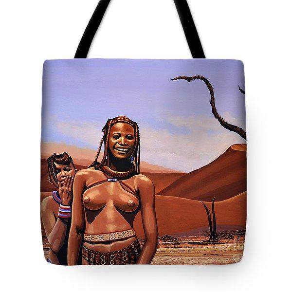 Himba Girls Of Namibia Tote Bag