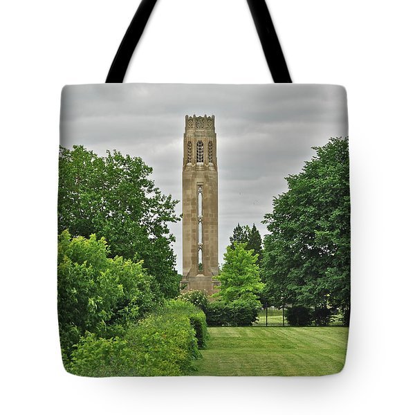 Nancy Brown Peace Tower 2548 Tote Bag by Michael Peychich