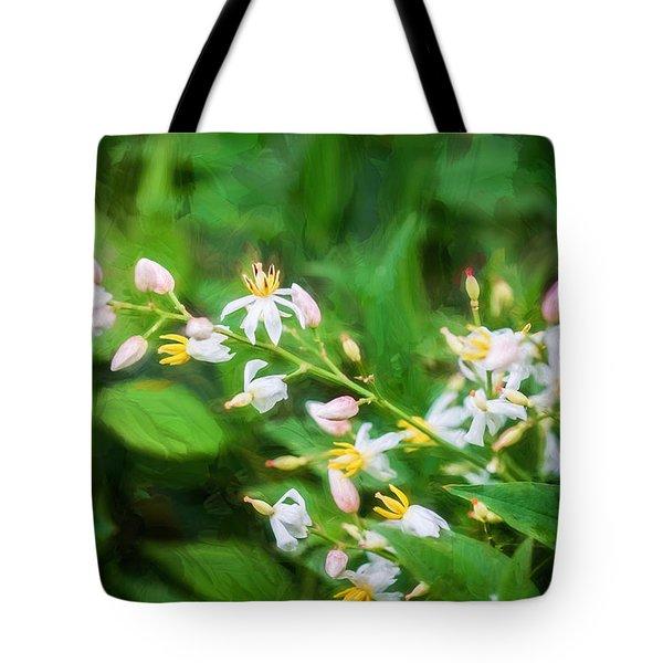 Nandina Heavenly Bamboo Painted Tote Bag