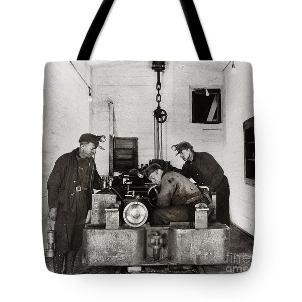 Nanticoke Pa Buttonwood Colliery Inman Shaft Glen Alden Coal Underground Motor Pit 1945 Tote Bag