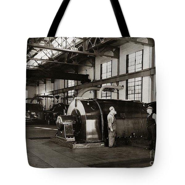 Nanticoke Pa Electrical Generators Glen Alden Mines Power Plant 1945 Tote Bag