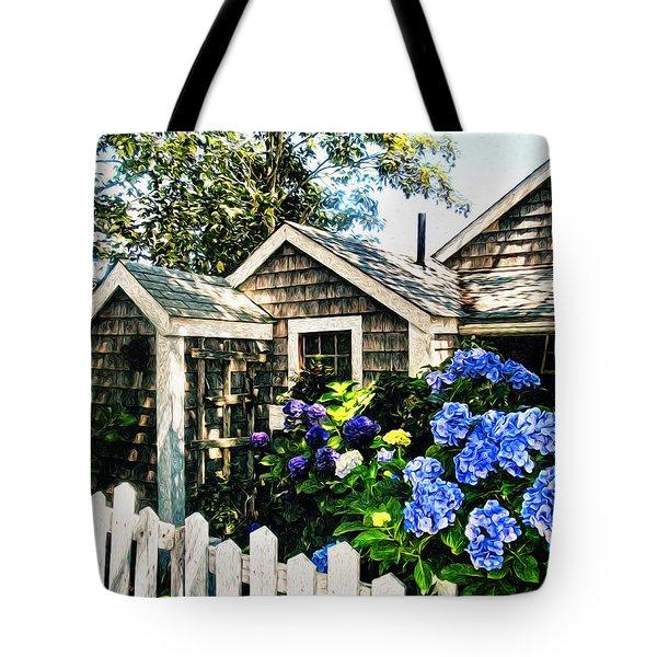 Nantucket Cottage No.1 Tote Bag by Tammy Wetzel