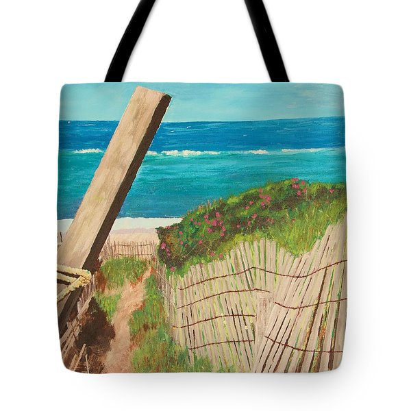 Tote Bag featuring the painting Nantucket Dream by Cynthia Morgan