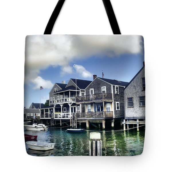 Nantucket Harbor In Summer Tote Bag