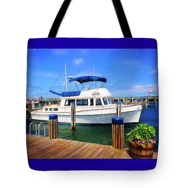 Nantucket Harbor Safe Harnor Series 52 Painted Tote Bag