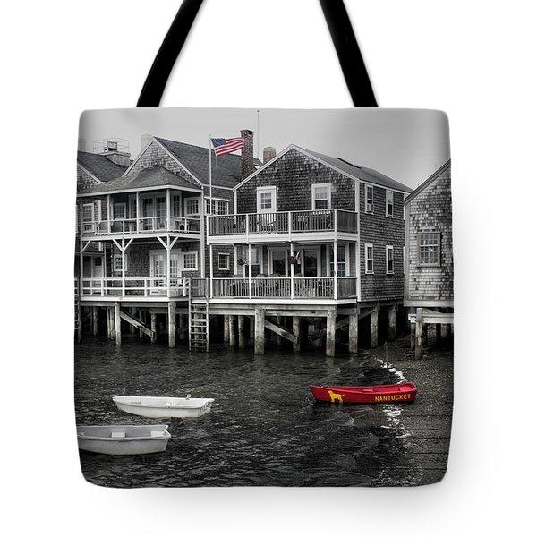Nantucket In Bw Series 6139 Tote Bag