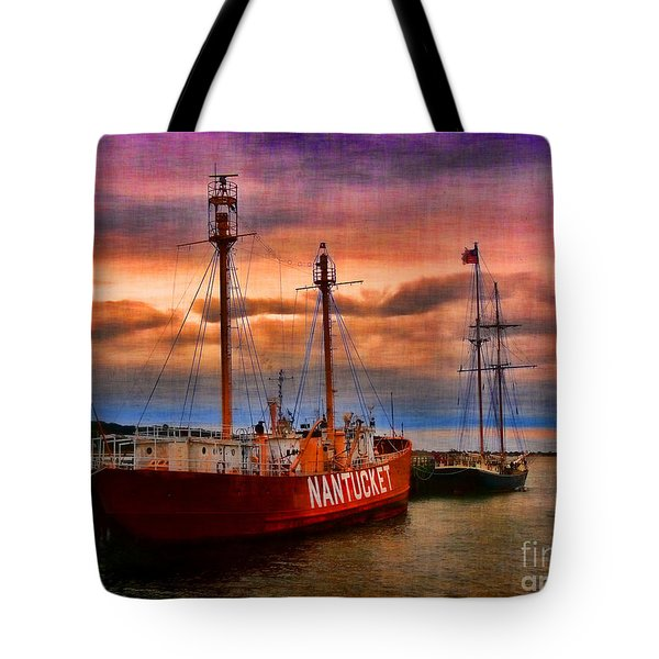 Nantucket Lightship Tote Bag