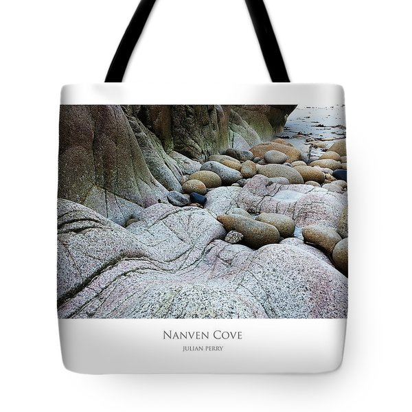 Tote Bag featuring the digital art Nanven Cove by Julian Perry