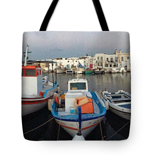 Naoussa Village Island Greece Tote Bag