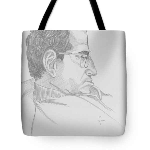 Tote Bag featuring the drawing Nap by Annemeet Hasidi- van der Leij