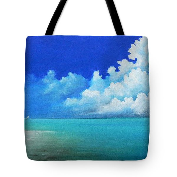 Tote Bag featuring the painting Nap On The Beach by S G