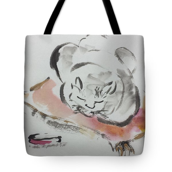 Nap Time Tote Bag by Laurie Samara-Schlageter