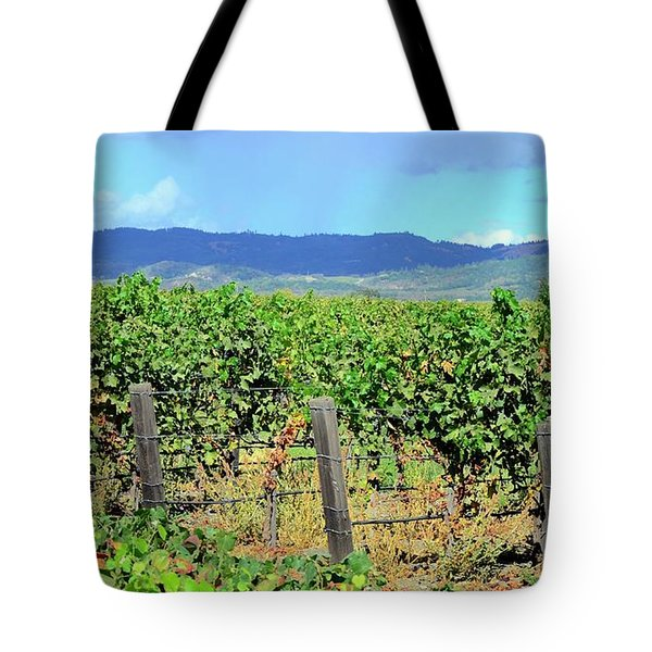 Tote Bag featuring the photograph Napa by Corinne Rhode