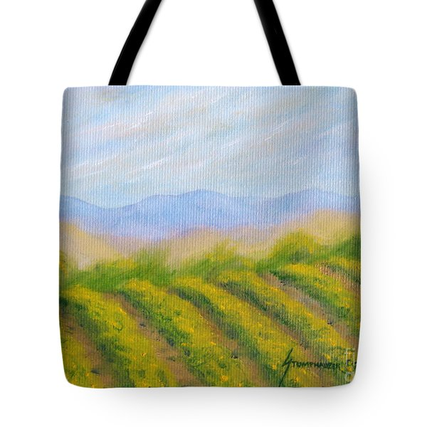 Napa Valley Vineyard Tote Bag by Jerome Stumphauzer