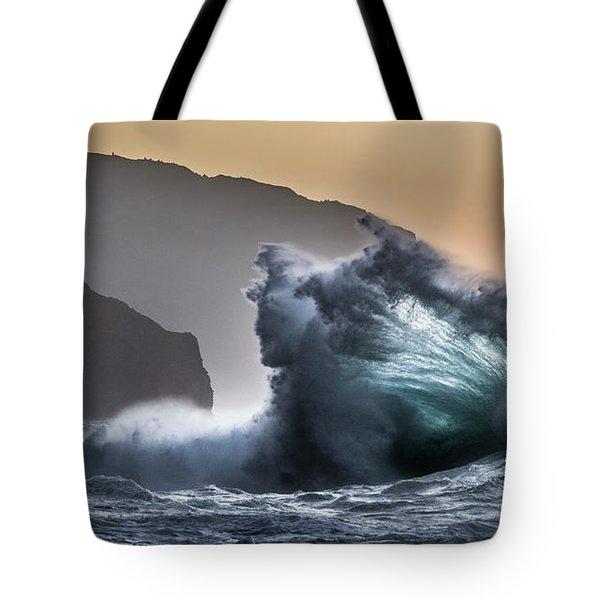 Napali Coast Hawaii Wave Explosion IIi Tote Bag