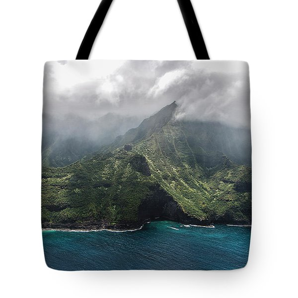 Napali Coast In Clouds And Fog Tote Bag