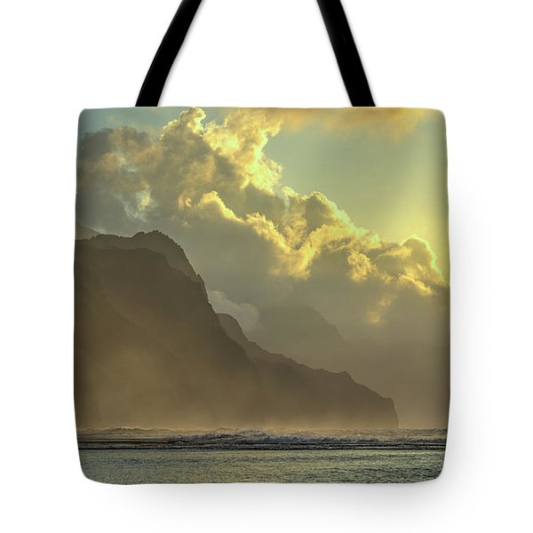 Napali Coast Kauai Hawaii Dramatic Sunset Tote Bag