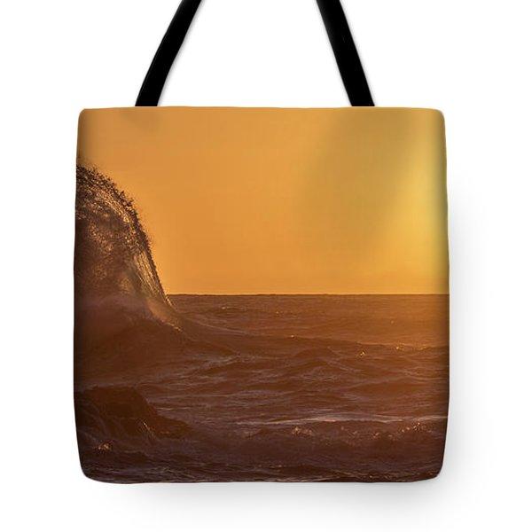 Napali Coast Kauai Hawaii Wave Explosion Iv Tote Bag