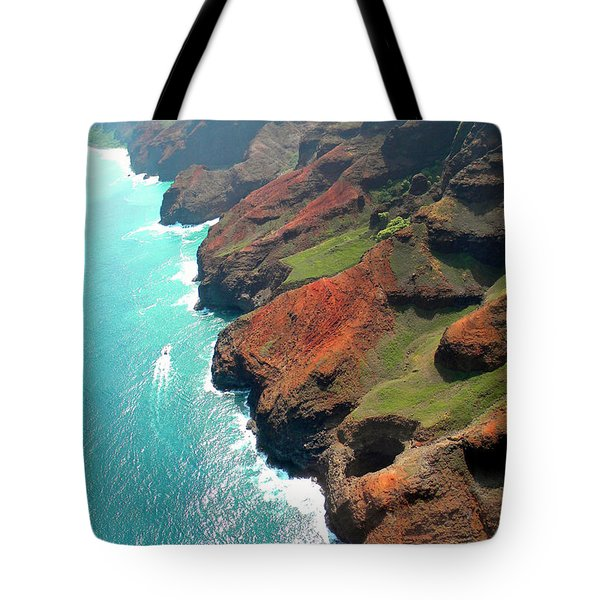 Napali Coast Of Kauai Tote Bag by Frank Wilson