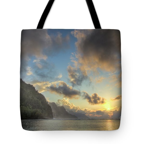 Napali Coast Sunset Kauai Tote Bag