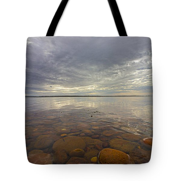 Napeague Bay Red Rocks Tote Bag