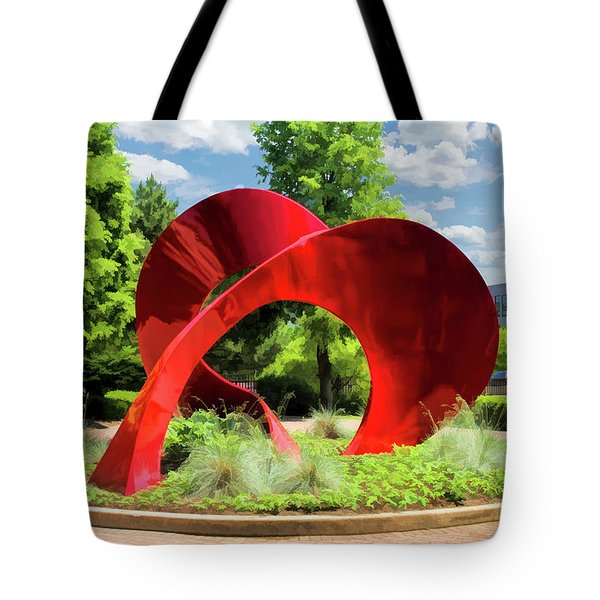 Tote Bag featuring the painting Naperville Landforms Sculpture by Christopher Arndt