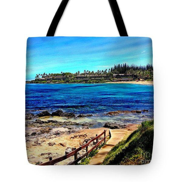 Napili Beach Gazebo Walkway Tote Bag