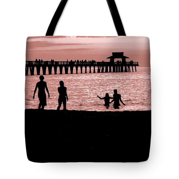 Naples Florida Sunset Tote Bag