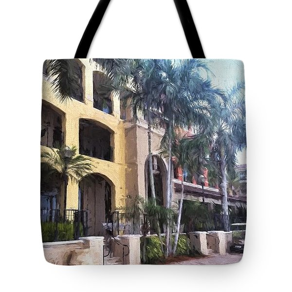 Naples On The Waterfront Tote Bag