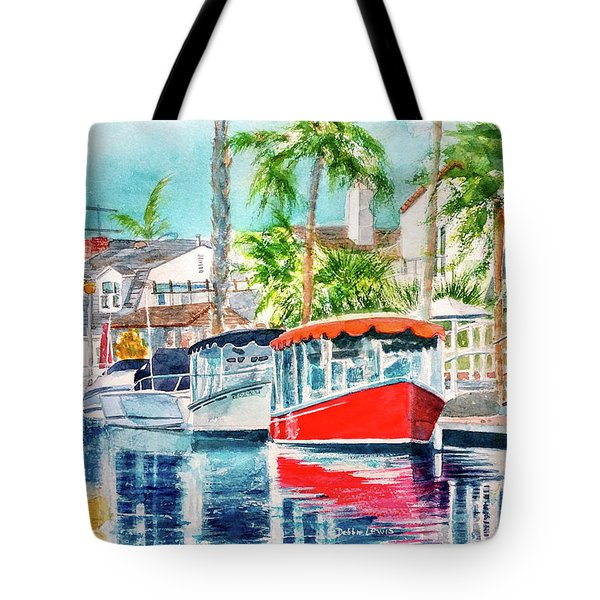 Tote Bag featuring the painting Naples Red by Debbie Lewis