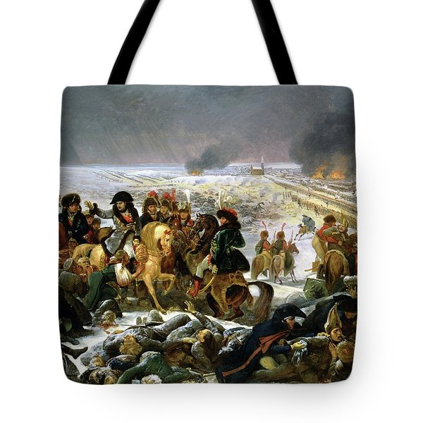 Tote Bag featuring the painting Napoleon At Eylau  by Antoine Jean Gros