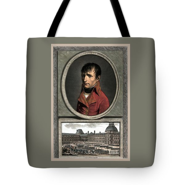 Napoleon Bonaparte And Troop Review Tote Bag by War Is Hell Store