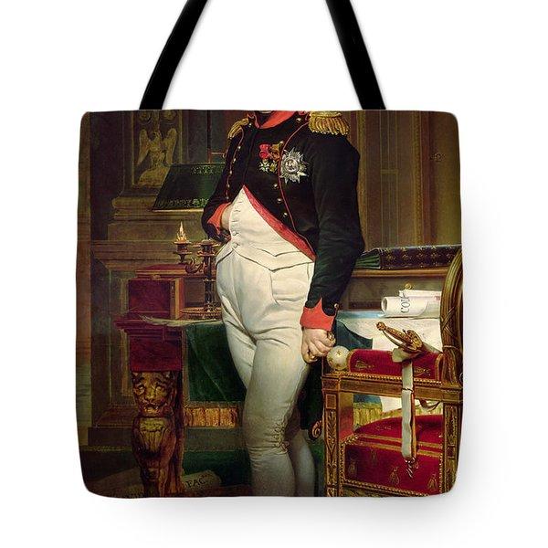 Napoleon Bonaparte In His Study At The Tuileries, 1812 Tote Bag