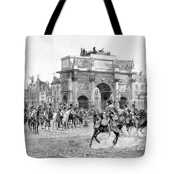 Napoleon Reviewing His Troops Tote Bag by War Is Hell Store