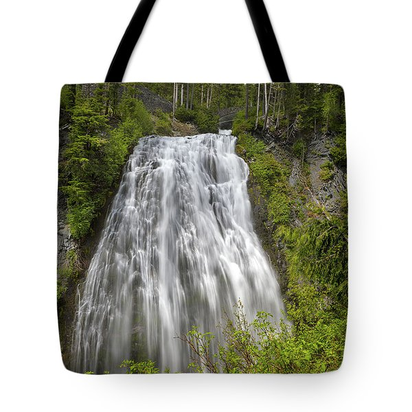 Narada Falls In Mount Rainier National Park Tote Bag