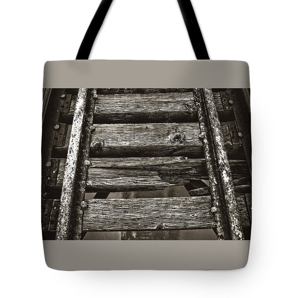 Narrow Gauge Tracks #photography #art #trains Tote Bag