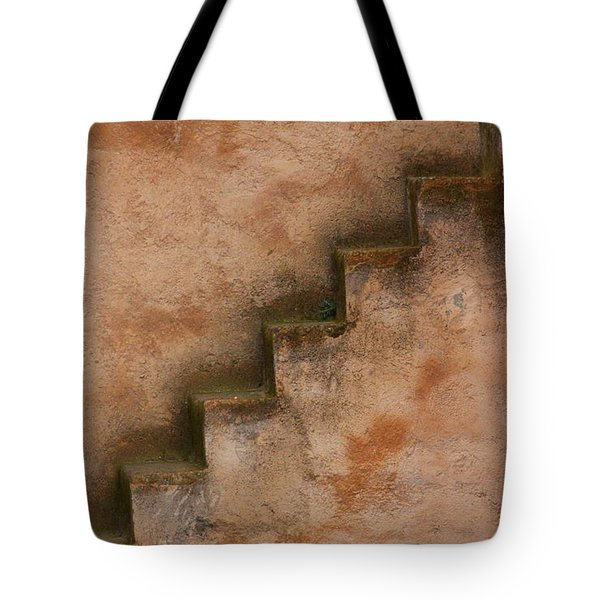 Tote Bag featuring the photograph Narrow Stairs by Ramona Johnston