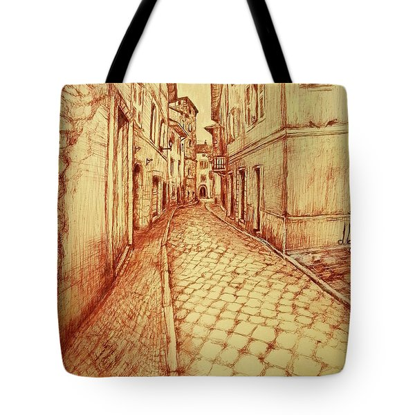 Narrow Street Of Lovere Italy Tote Bag