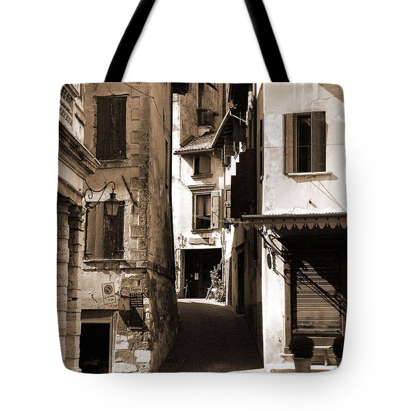 Narrow Streets Of Asolo Tote Bag