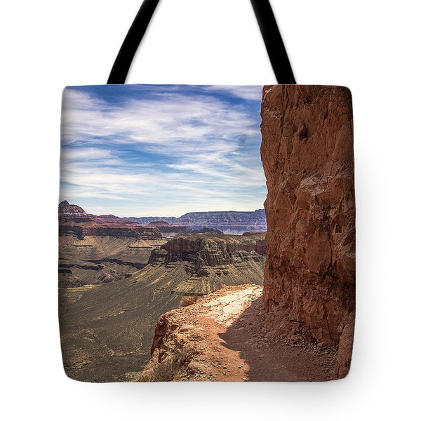 Narrow Trail On The South Kaibab Trail, Grand Canyon Tote Bag